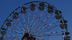 4K Ferris Wheel Spinning at Twilight 1 Stock Footage