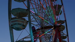 4K Ferris Wheel Spinning at Twilight 2 Stock Footage