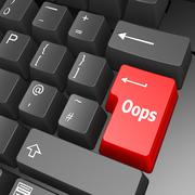 oops key on computer keyboard - stock illustration