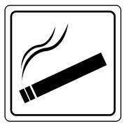 Stock Illustration of Black smoking area label