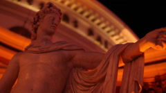 LAS VEGAS - STATUE OUTSIDE OF CAESAR'S PALACE Stock Footage