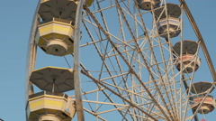 4K Ferris Wheel Spinning Closeup 4 Stock Footage