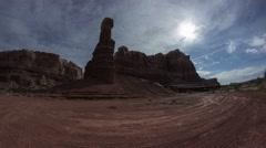 Red rock high desert in Utah Stock Footage