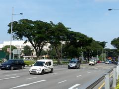 Stock Photo of singapore road traffic