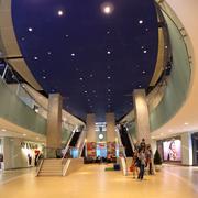 singapore shopping mall interior - stock photo