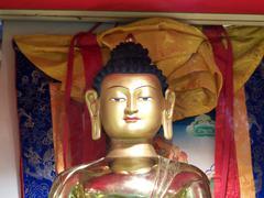 buddhist goddess figure sculpture - stock photo