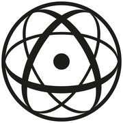 Atomic Symbol Stock Illustration