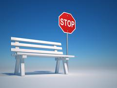 Stop and rest Stock Illustration