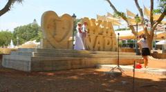 Wedding in Aiya Napa Stock Footage