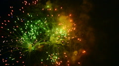Colorful fireworks with sound Stock Footage