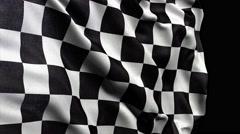 4K Checker flag seamless loop Ultra-HD with alpha matte Stock Footage