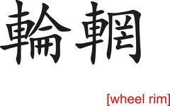 Chinese Sign for wheel rim Stock Illustration