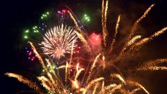 Fire flowers fireworks with sound Stock Footage