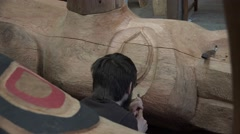 Totem Poles, master artist creations Stock Footage