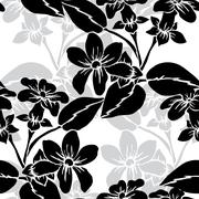 seamless pattern with decorative stephanotis,for invitations, cards, scrapbook - stock illustration