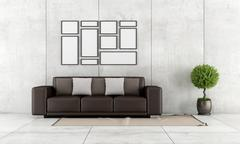 contemporary living room - stock illustration