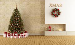 Stock Illustration of christmas lounge