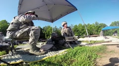 Live Fire Training on M240 and M249 Machine Guns Stock Footage