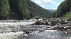 Ukraine, the Prut river Stock Footage