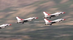 Warriors over the Wasatch air show Stock Footage