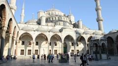 Blue Mosque in Istanbul Turkey Stock Footage