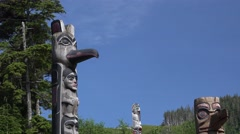 Totem Poles, cultural history Stock Footage