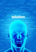 Finding solution Stock Illustration