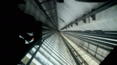 Modern Elevator Shaft Stock Footage