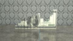 Money Chart and Fly Cam Stock Footage