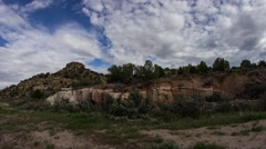 Cloudscapes movement in the red rock landscape of Utah - stock footage