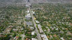 Aerial view of Los Angeles Stock Footage