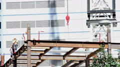 Iron Workers at Construction Site Stock Footage