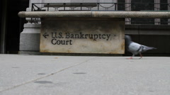 Bankruptcy Bad Times - stock footage