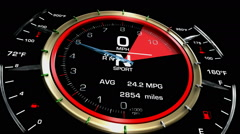 Stock Video Footage of Speedometer Acceleration