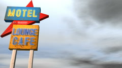 Motel Neon Sign Combo Stock Footage