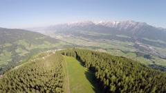 Flight over Mountain Forrest - Aerial Flight Stock Footage