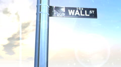 Different Seasons at Wall Street Sign Climate HD Stock Footage