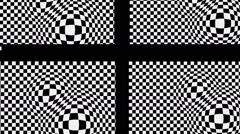 Black cross with effect bulge Stock Footage