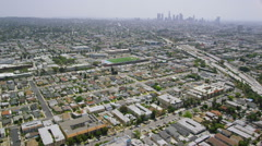 Aerial view of Baseball Stadium in Los Angeles Stock Footage