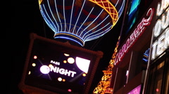 LAS VEGAS - PARIS BALLOON ROTATE UP - stock footage