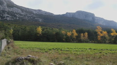 France La Ste. Baume Massif in fall  Stock Footage