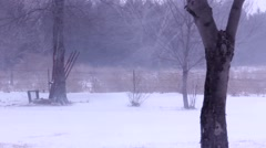 Blowing Snow in field 2 Stock Footage