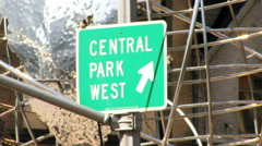 Central Park West Columbus Circle HD Stock Footage