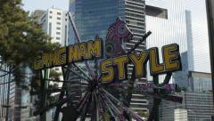 Gangnam Style sign in Gangnam district - Seoul - South Korea Stock Footage