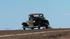 Vintage Old Black Car HD Stock Footage