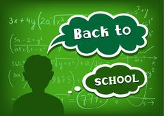 Back to school speech and thought Stock Illustration