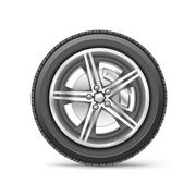 car wheel - stock illustration