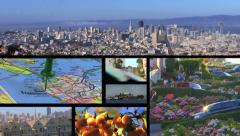 San Francisco California Composite Stock Footage