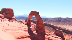 Delicate Arch National Park  HD Stock Footage