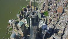 Aerial view of the Freedom Tower Ground Zero Stock Footage